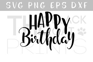 Happy Birthday SVG EPS PNG DXF