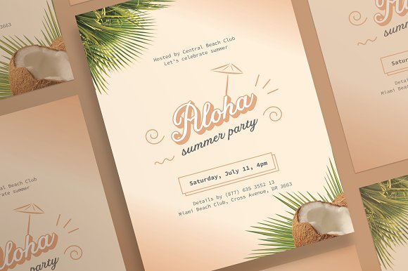 Posters Aloha Summer Party