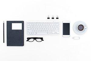 office desk header