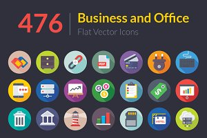 476 Business and Office Flat Icons