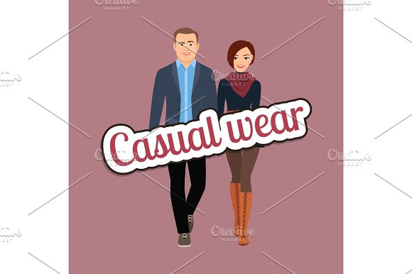 Couple In Spring Casual Wear Clothes