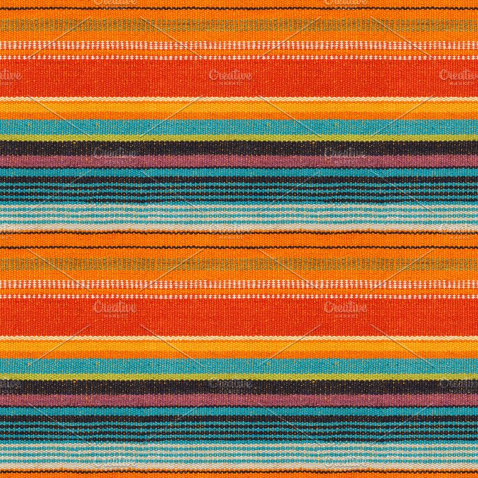 Mexican Colors. Seamless Background ~ Abstract Photos on