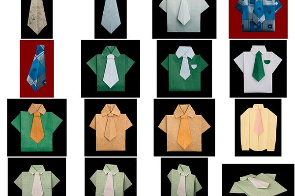 Origami dress and shirt wedding invitation Vector Image | 400x600