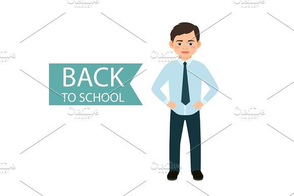 Back To School Little Boy