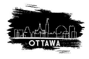 Ottawa Canada Skyline Silhouette.