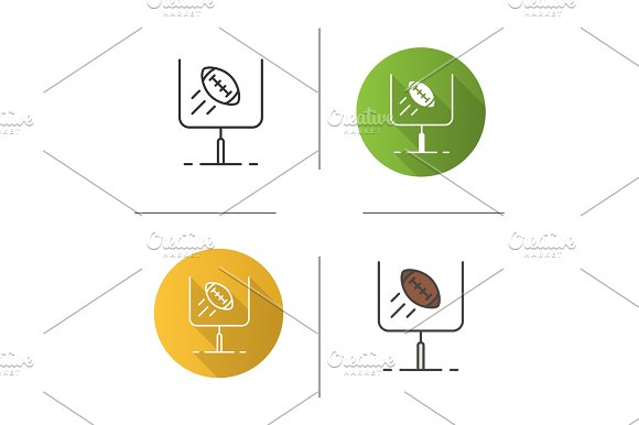 American Football Or Rugby Goal Icon