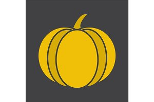 Pumpkin glyph color icon