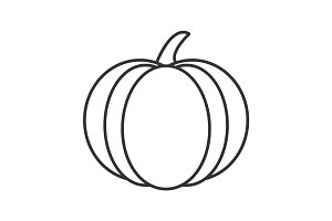Pumpkin linear icon