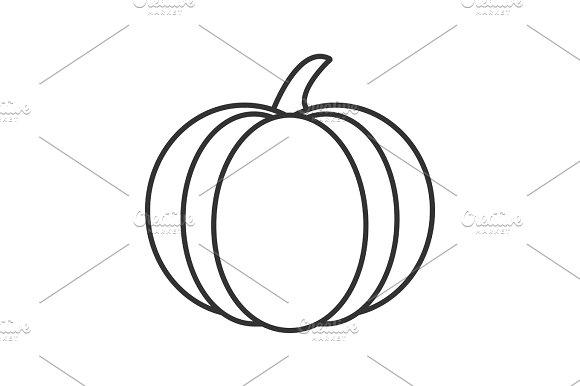 Pumpkin Linear Icon