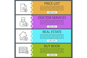 Services web banner templates set