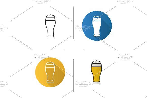 Light Beer Glass Icon