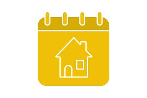 Home calendar glyph color icon