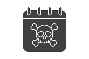Deadline glyph icon