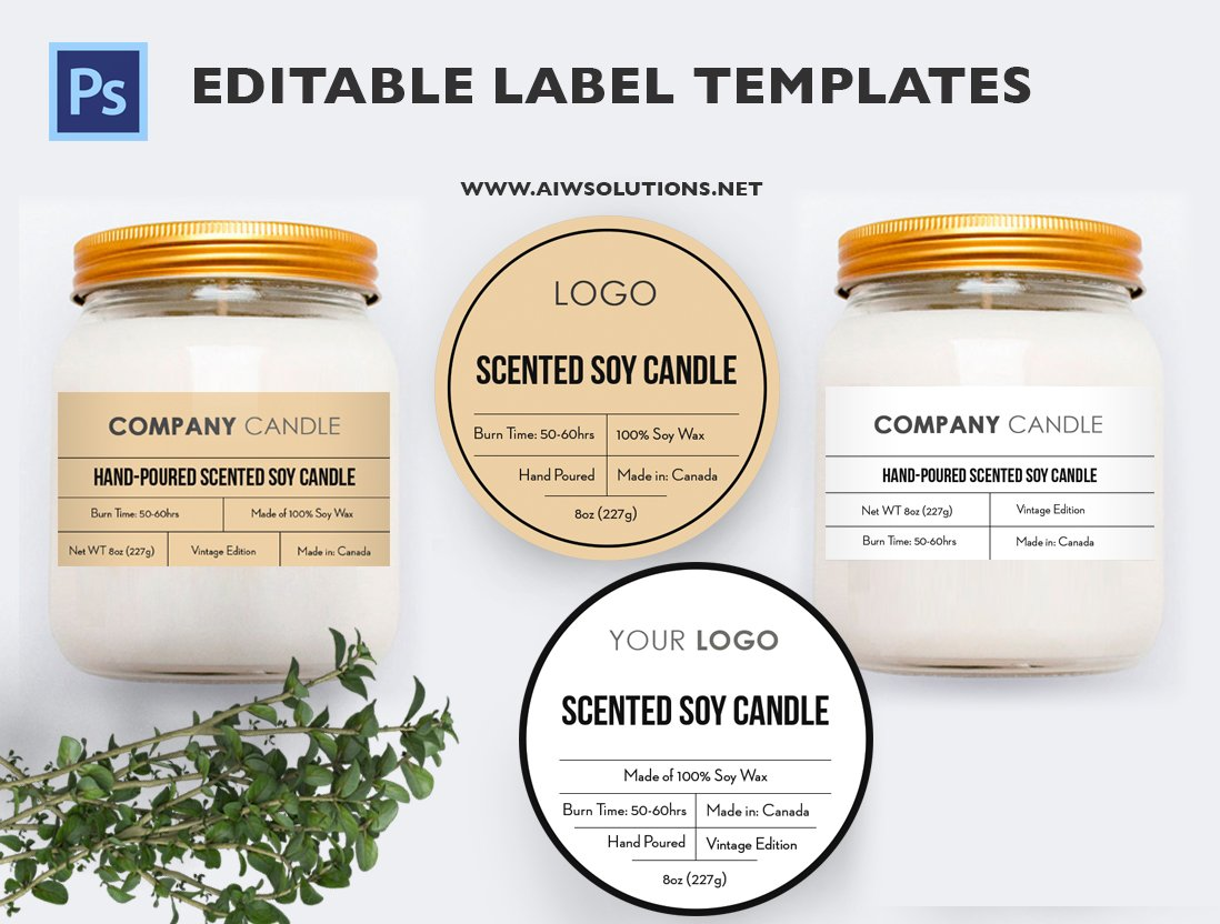 Candle Label Id23 Stationery Templates Creative Market