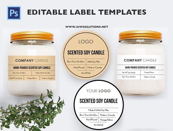 Candle Label ID23