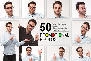 50 promotional photos bundle