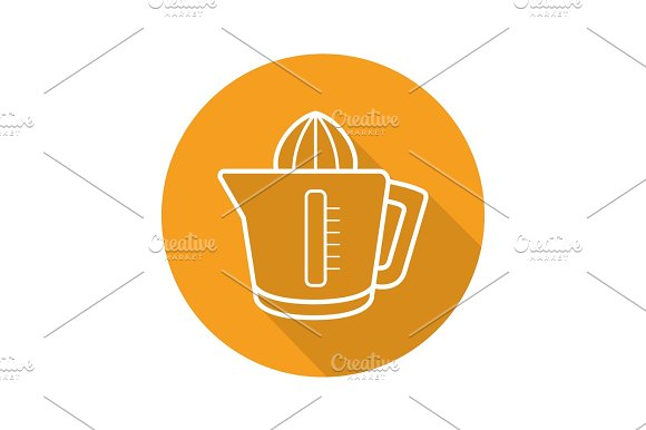 Juicer Flat Linear Long Shadow Icon