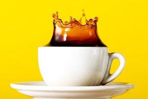 Tasty black coffee espresso splash