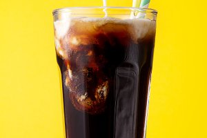 Iced black coffee cola ice creamy