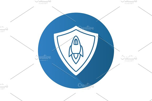 Startup Projects Protection Flat Design Long Shadow Glyph Icon