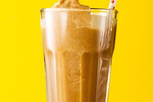 Iced black coffee latte ice creamy
