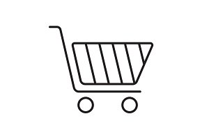 Shopping cart linear icon