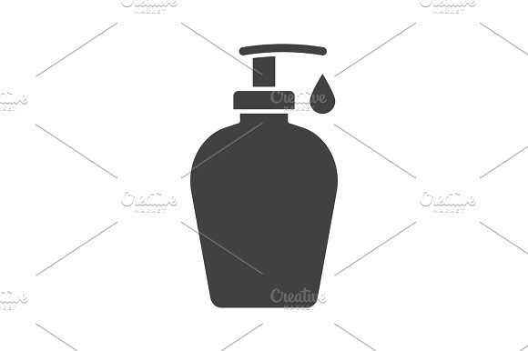 Liquid Soap Bottle With Drop Glyph Icon