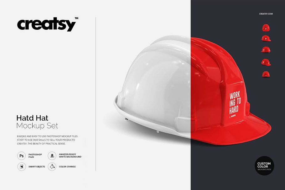 d8848e7ff09 Hard Hat Mockup Set ~ Product Mockups ~ Creative Market