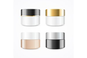 Cream Can Cosmetic Product Set
