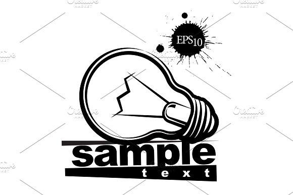 Lamp Logo Black And White