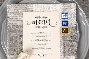 Wedding Menu template Wpc234