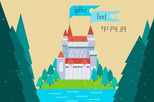 Gothic font TYPEFACES set