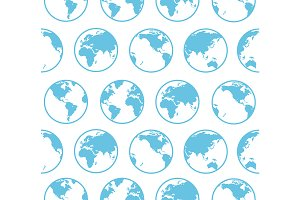 Earth Map Background Pattern