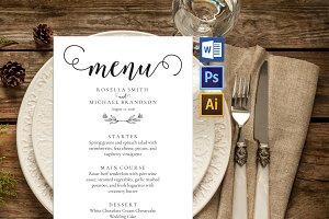 Wedding Menu template Wpc235