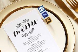 Wedding Menu template Wpc236
