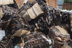 dump industrial waste - plastic bottles