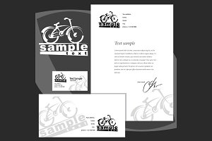Corporate style: envelope blank card