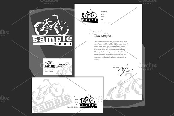 Corporate style: envelope blank card in Product Mockups