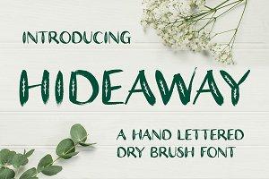 Hideaway Dry Brush Font