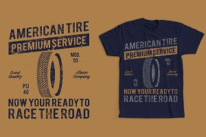 American Tire Retro Vintage Design