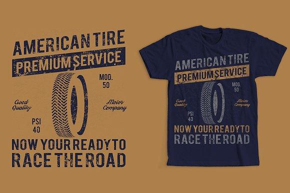 American Tire Retro Vintage Design