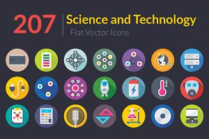 207 Science and Technology Flat Icon