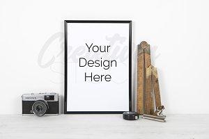 A4 Black Frame Mock Up - PSD/JPEG