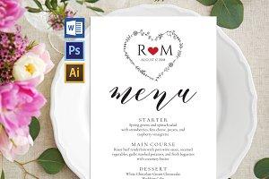 Wedding Menu template Wpc239