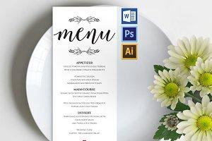 Wedding Menu template Wpc241