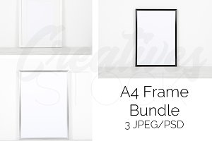A4 Frame Mock Up Bundle - PSD/JPEG
