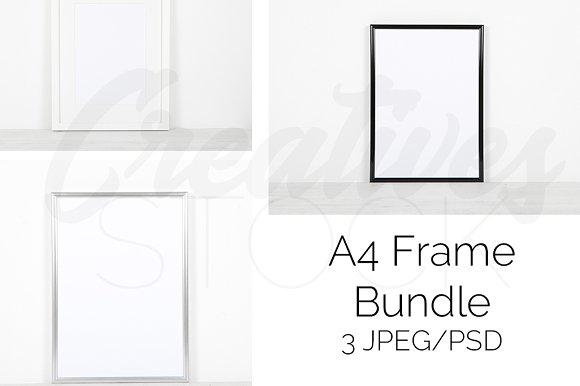 A4 Frame Mock Up Bundle PSD JPEG