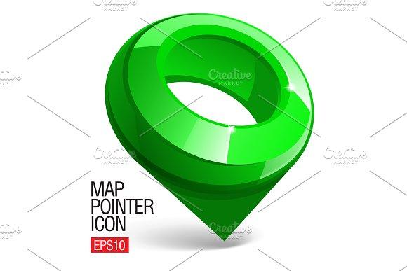 Shiny Gloss Green Map