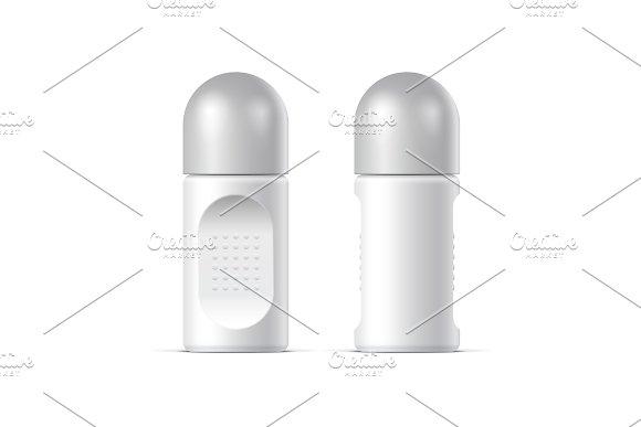 Realistic White Cosmetics Bottle