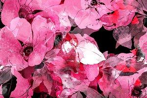 wild rose seamless | JPEG